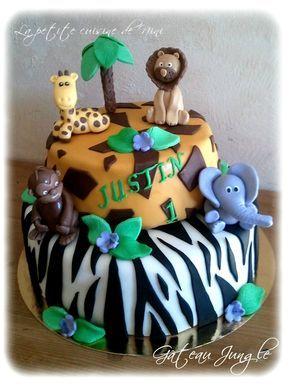 Gros Gateau Decor Savane Pate A Sucre Cake Design