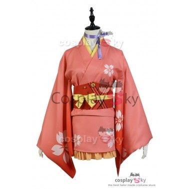 Kabaneri of the Iron Fortress Mumei Yukata Kimono Cosplay Costume_4