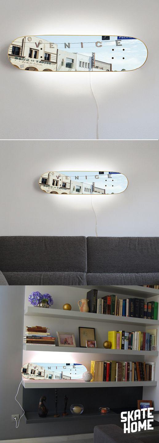 sport themed bedroom fo skateboarders. SKATE LAMP - Venice Beach , California . United States - USA