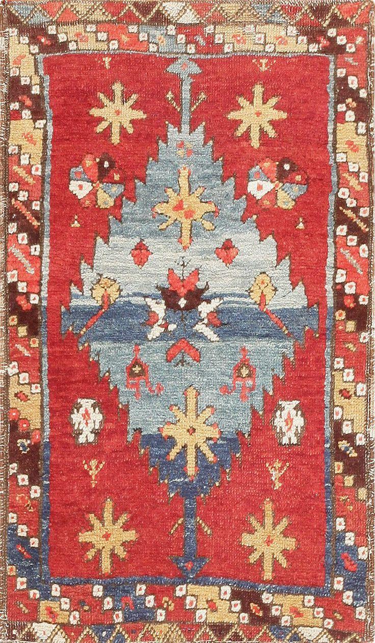 Antique Tribal Rug Konya Applied Art Pattern