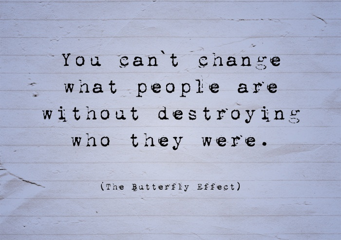 The butterfly effect - and thank goodness for it under some circumstances.
