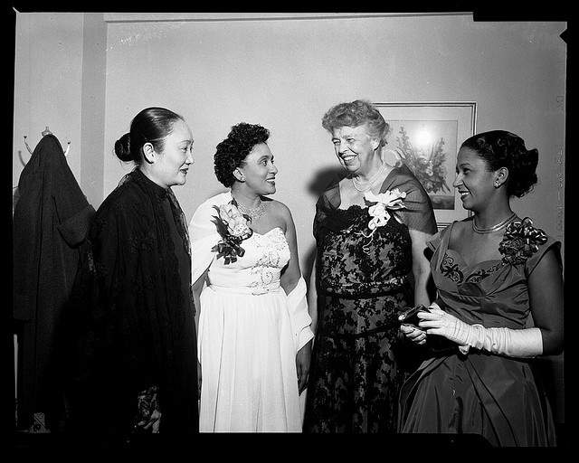 Black Greek Fraternities & Sororities     		Founders of the Alpha Kappa Alpha soritority with Mrs Roosevelt, 1944.