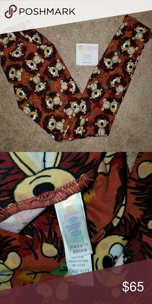 🦄OS LULAROE Hedgehog leggings 🦄 🦄 ***UNICORN Alert ***  BNWT  Made in China  No rude comments please. All pricing questions must be submitted thru the offer button.  Accepting reasonable offers LuLaRoe Pants Leggings