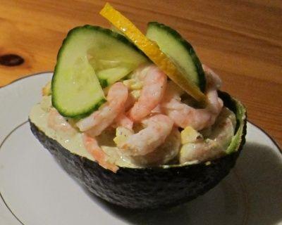Avocado fylt med reker