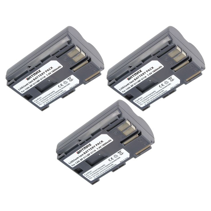 3Pcs 1800mAh BP-511 BP511 BP 511 BP-511A Battery For Canon G6 G5 G3 G2 G1 EOS 300D 50D 40D 30D 20D 5D MV300i Digital Camera #Affiliate
