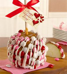 Valentine'S Day Caramel Apple With Candies