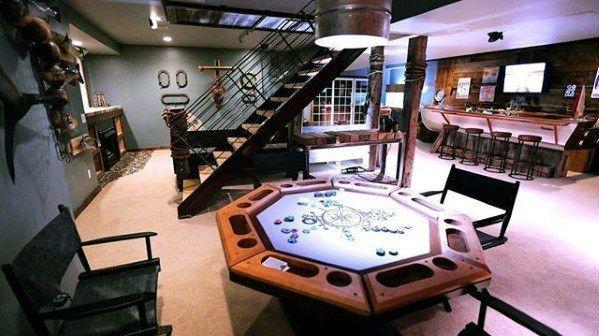 Poker Room With Bar Guys Basement Man Cave Ideas Man Cave Design Man Cave Basement Dream Man Cave