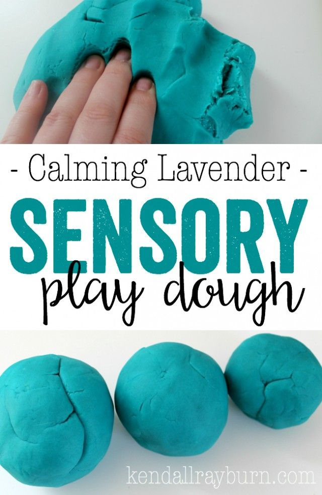 Calming Lavender Sensory Play Dough - It's SO easy to make and will help calm your kiddos down before bedtime! Win-Wni! <3