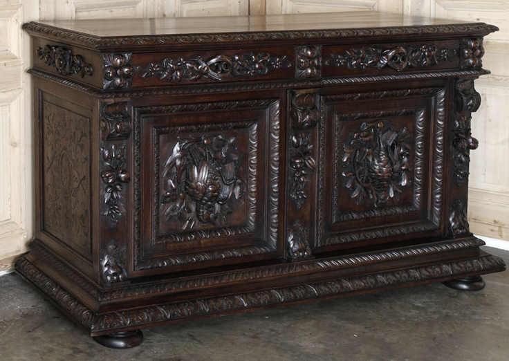 This magnificent hunt buffet was featured as our Antique of the Week ...