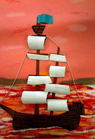 great for early explorers.....toilet paper tube sails.