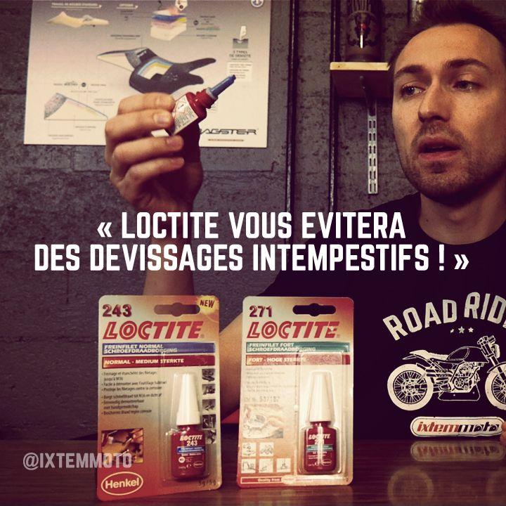 #moto #loctite #motard #motarde Vous êtes nombreux à déjà connaître l'efficacité de ce produit. Une seule goutte de Loctite peut vous éviter de gros ennuis. JB vous explique pourquoi et comment. Vous ne l'oublierez jamais plus dans votre trousse à outils.