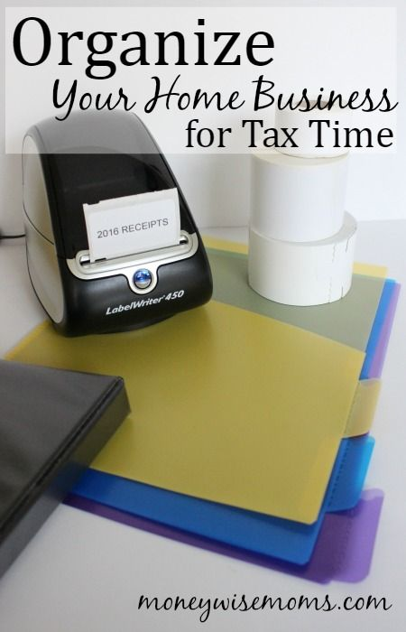 Get your home business organized for tax time. Do it now so you'll be ready at the end of 2017!