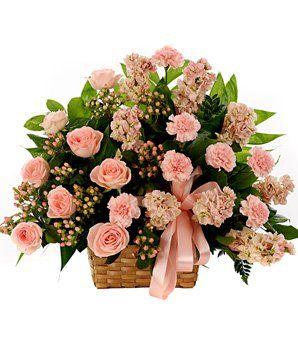 Classic Sympathy Basket Arrangement - Flowers $64.99