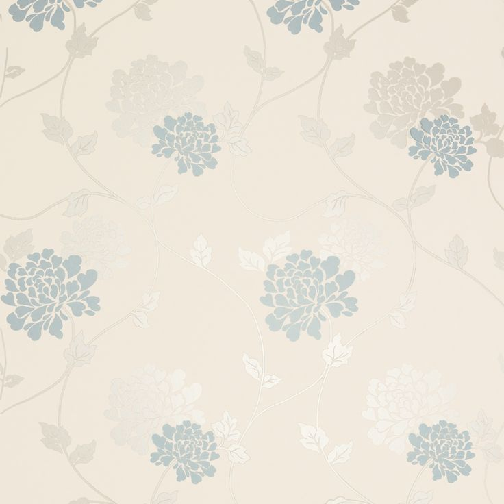 Isodore smoke floral wallpaper laura ashley home for Cream wallpaper for walls