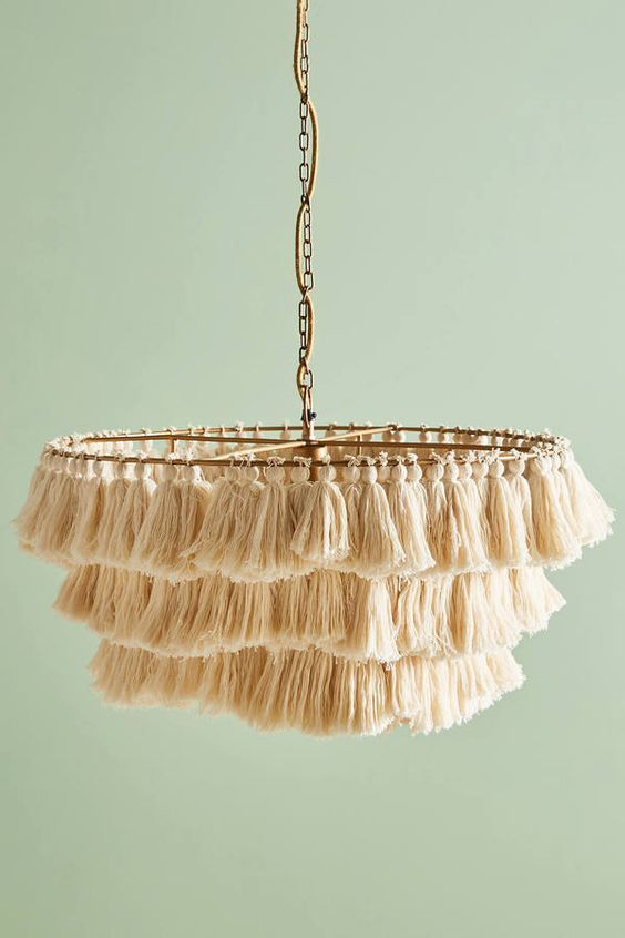 Tassel chandelier: New trend in lighting models #lighting models #corn light #new # tassel #trend