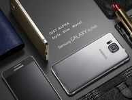 Samsung Galaxy Alpha shows off metal frame (pictures) Samsung has built a metal mobile at last. Check out these official pictures of the Galaxy Alpha, which also sports a 4.7-inch display.