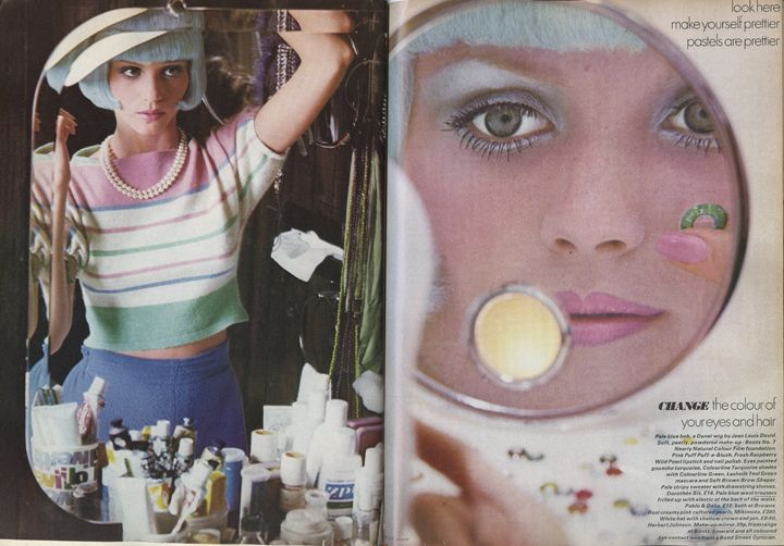 Photographs by Peter Knapp for Vogue UK, June 1972.