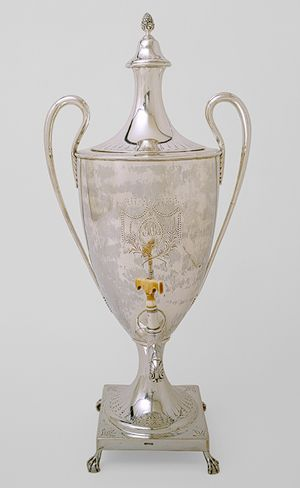 work of patriot-silversmith Paul Revere, a craft learned from his father, the French Huguenot silversmith Apollos Rivoire, also known as Paul Revere, Sr.