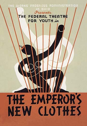 13 best poster images on pinterest poster posters and art director the emperors new clothes federal theater for youth fandeluxe Choice Image