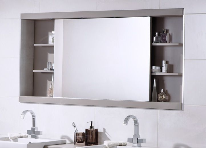 Image result for large bathroom mirror with storage
