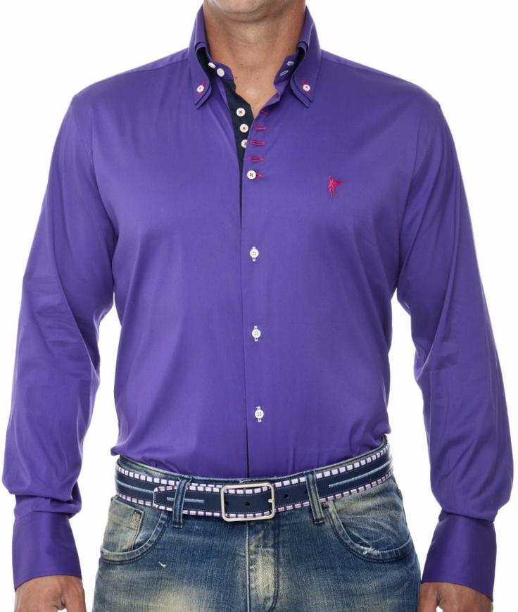 Mejores 9 imágenes de Camisas moradas en Pinterest | Camisas, Moda ...