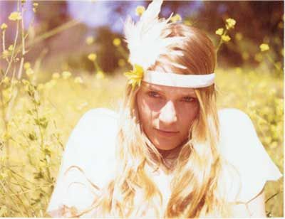 pretty hippie feather headband