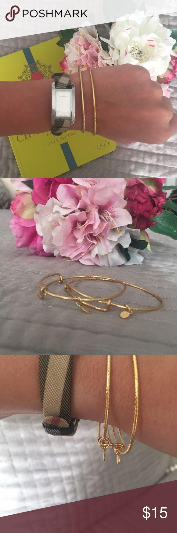Alex & Ani Bangle Bracelets Dainty Alex & Ani set! Perfect for a fun wrist collection! Alex & Ani Jewelry Bracelets