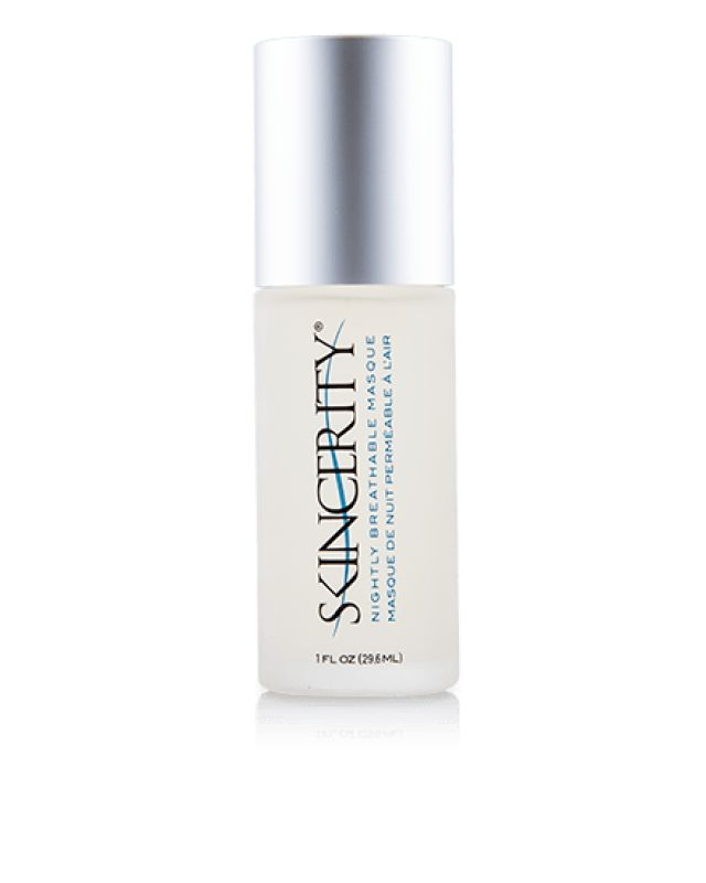 Skincerity Nightly Breathable Masque:  Skincerity® seals in your own natural moisture to deeply hydrate your skin. While the Breathable Barrier® allows vital oxygen molecules to penetrate the barrier, it holds in moisture to restore and rejuvenate your skin's appearance.