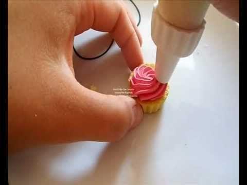 Cupcake Tutorial con glassa rosa e Stelline (esercitazione polymer clay)    PopScreen