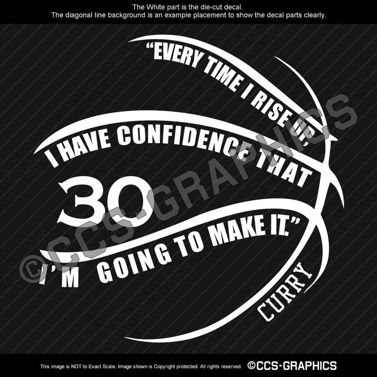 """8"""" STEPHEN CURRY #30 QUOTE """"Im Going To Make It"""" DECAL vinyl car window sticker #Oracal"""