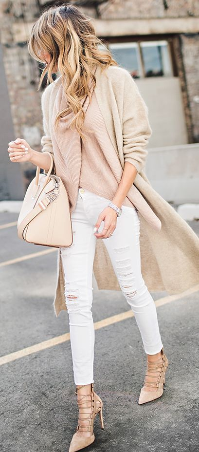 Hello Fashion Blog Shades Of Nude And White Fall Street Style Inspo