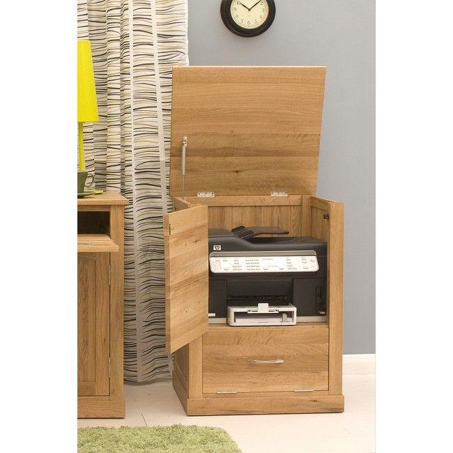 Mobel Oak Furniture Light Oak Home Office Printer Cupboard | Mobel Oak