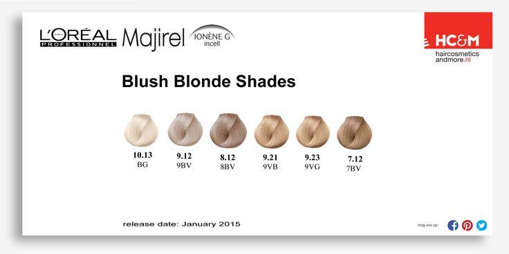 L Or 233 Al Professionel Blush Blonde Shades Color Charts