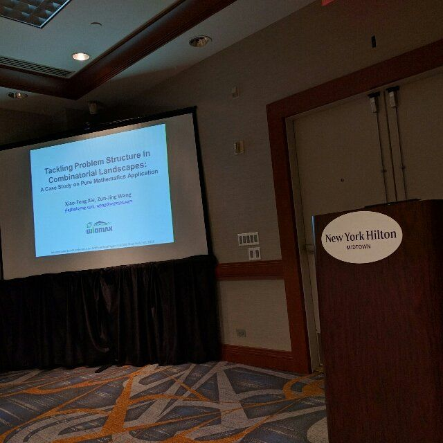 Presented our work on combinatorial optimization at IJCAI16