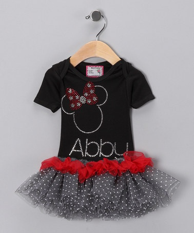 Take a look at this Black Mouse Personalized Tutu Dress - Infant, Toddler & Girls by Born 4 Couture on #zulily today!