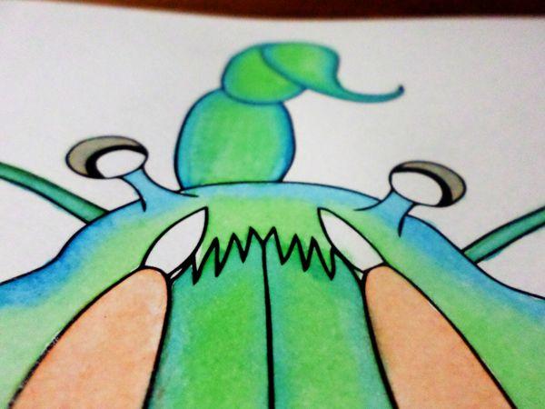 Macrocheira Abisal by Liliana Diaz Cruz #Watercolor #Ink #Illustration