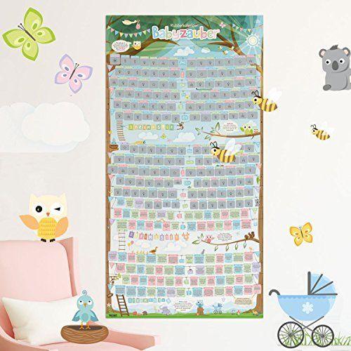 """Clever me® 1894 """"BabySteps"""" Rubbelkalender - 236 unterhaltsame Infos und Tipps für werdende Eltern"""