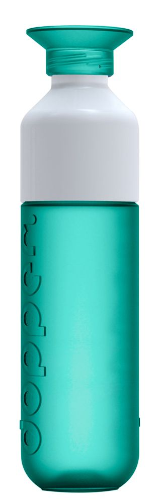 Dopper: a beautiful Dutch design, reusable water bottle, incredible easy to clean, free of BPA, with a net zero carbon footprint! | via WAAR in seagreen
