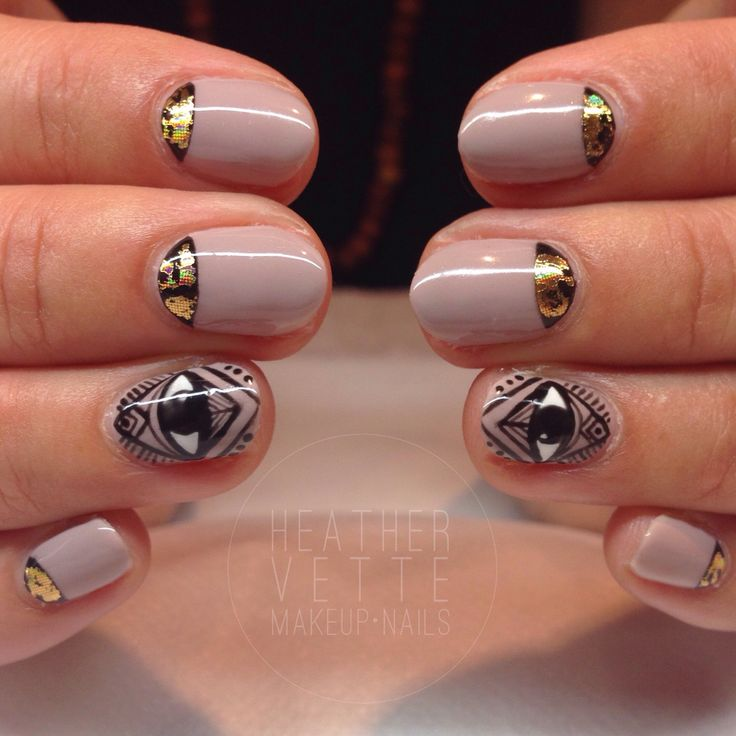 "CND 'Field Fox', 'Asphalt' moons with gold foil and the ""all seeing eye"""
