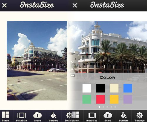 Instasize App to allow full size photos on Instagram. From Sue B Instagram Expert //