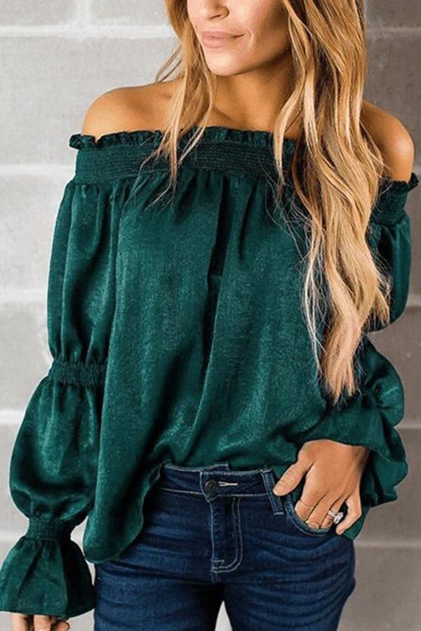 44230d872ab3 Sexy Green Off Shoulder T-Shirt Blouse –  blouse  dress  fashion   streetstyle  fashion  style  streetwear