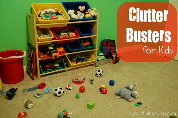 5 fun ideas to get kids to help pick up the clutter!