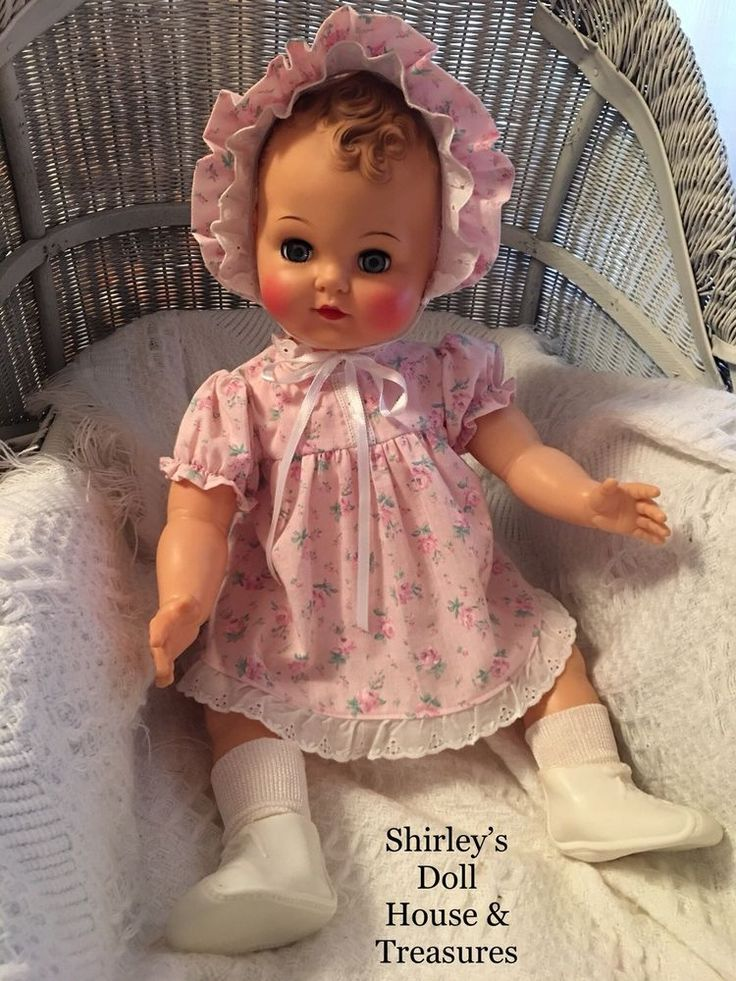 """Vintage Antique Ideal RARE Molded Curly Hair Baby Coos Doll B-28 24""""  #Ideal"""