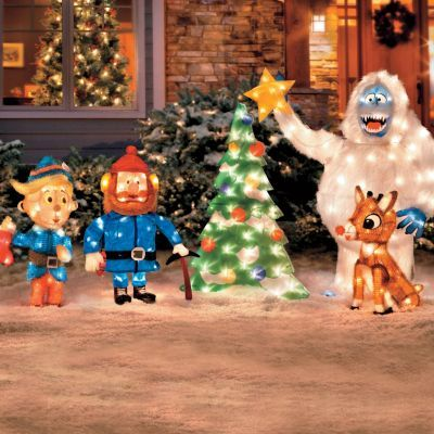 Rudolph and bumble outdoor christmas decor christmas for Abominable snowman christmas light decoration