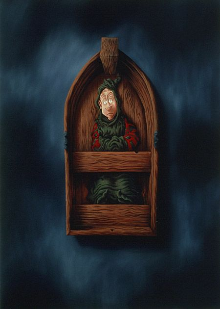 Havblik / Deadcalm, The homecoming - Martin Bigum - Oil on canvas, 1998