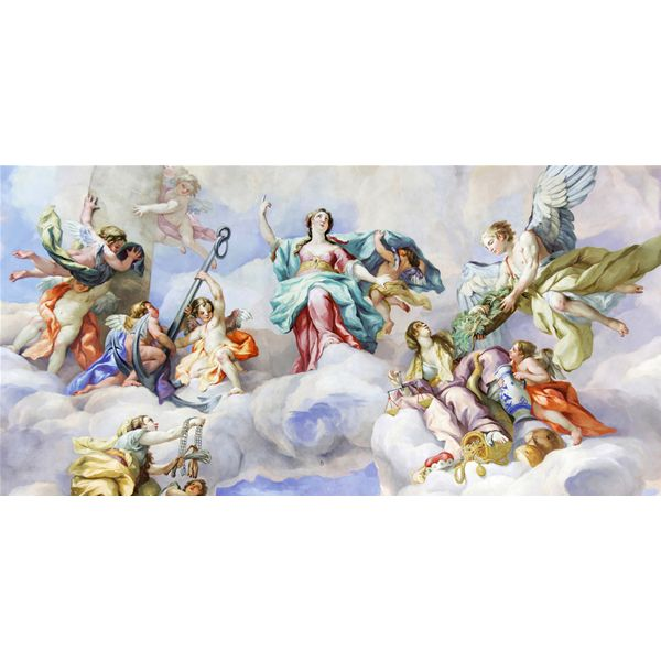 QUADRO ANGELI IN PARADISO #angeli #angelo #angels #madeinitaly #paintings #pictures #pintdecor #graphicollection