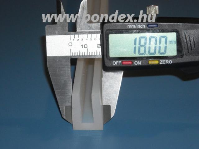 Vastagfalú szilikon élvédő 8 mm-es élhez