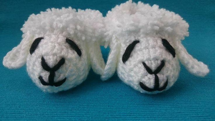 LAMB BOOTIES. Crochet Baby Booties. Sheep Booties. Unisex Baby Booties. White Booties. Baby Shower. Newborn. Baby Gift. Antipilling Yarn.
