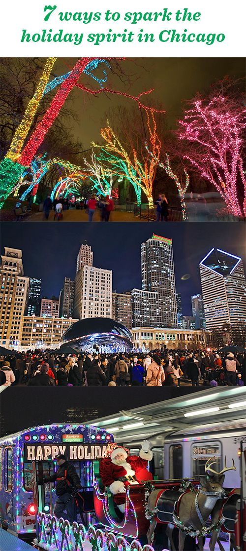 7 great ways to enjoy the holidays in Chicago: http://www.midwestliving.com/blog/travel/7-ways-to-spark-the-holiday-spirit-chicago/