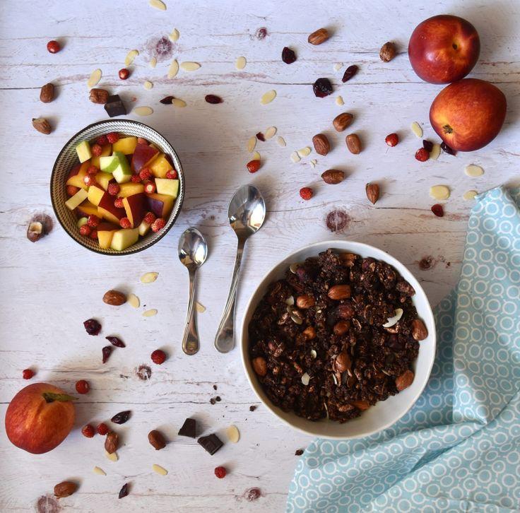 IR-barát és vegán, gluténmentes granola kakaós verziója #thepuur #gluténmentes #granola #vegán #cukormentes #inzulinrezisztancia #diétás #reggeli